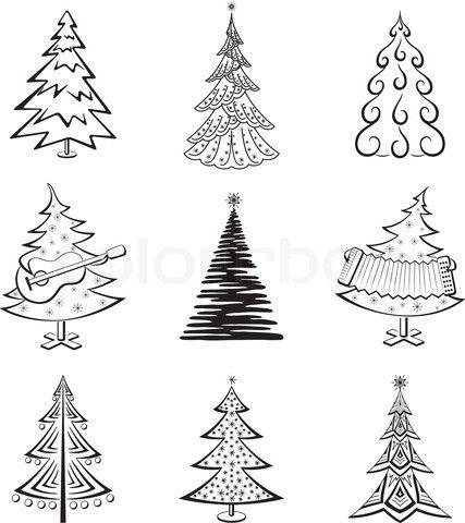 Christmas trees Christmas 6 Pinterest Christmas tree, Doodles