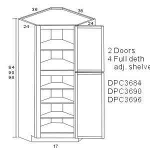 Lexington Diagonal Corner Pantry Cabinets Corner Pantry Cabinet Corner Pantry Corner Kitchen Pantry