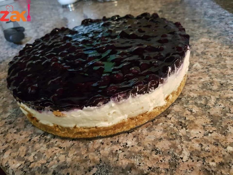 طريقة عمل التشيز كيك البارد زاكي Desserts Food Cheesecake
