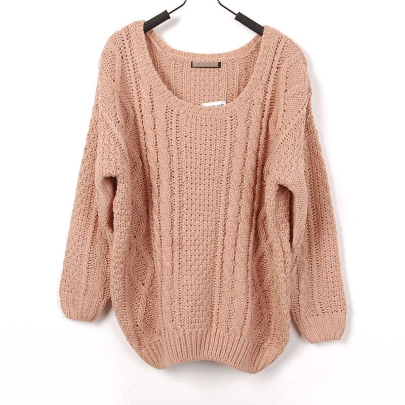 Loose Style Large Round Collar Crochet Knitted Gathered Bottom And