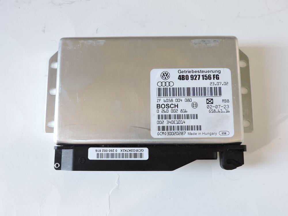 02 04 Audi A6 Transmission Control Unit 4b0 927 156 Fg Module Tcm