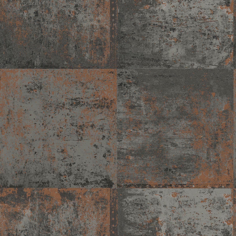 Holden Decor Metal Panel Copper Wallpaper Copper