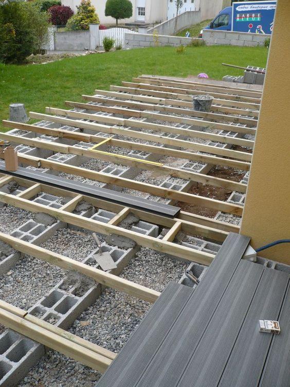 Bonjour Nous Allons Nous Aussi Nous Lancer Dans La Realisation D Une Terrasse En Composite En Princip Avec Images Terrasse Bois Terrasse Composite Construction Terrasse