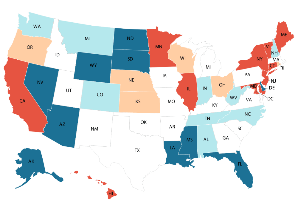Best States To Retired In With The Lowest Cost Of Living Finance 101 What Is Credit Score Healthcare Costs Income Tax