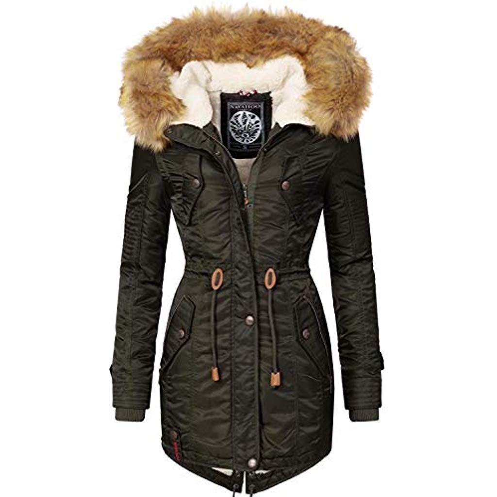 Navahoo Damen Winter Mantel Winterparka La Viva 13 Farben XS