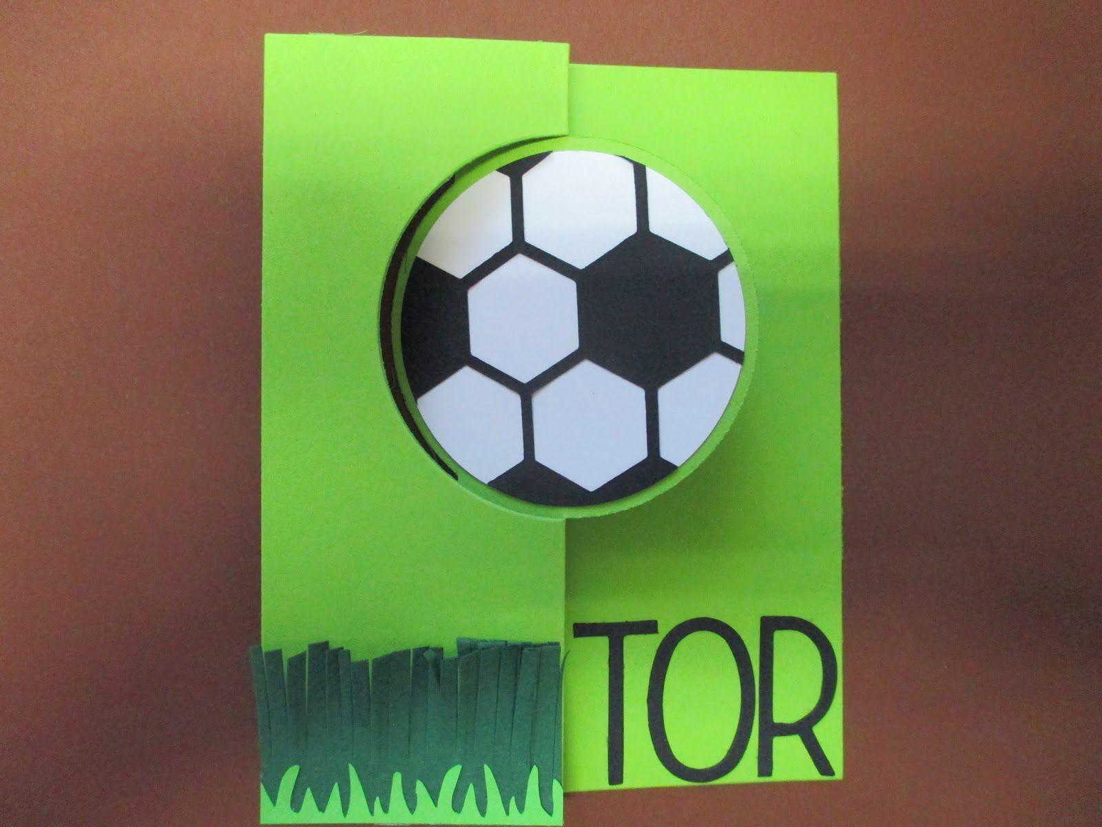 Geburtstagskarte Fussball Basteln Geburtstagseinladungen