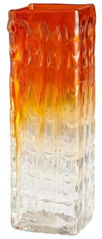 Fire Prism Glass Vase, Small