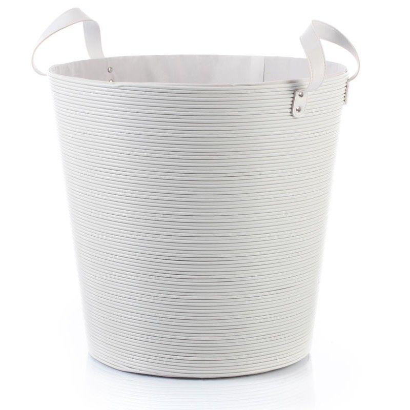 Disponible Sur Boutiquedubain Com Panier A Linge Plastique Blanc 40cm Panier A Linge Plastique Panier Linge Bac De Rangement
