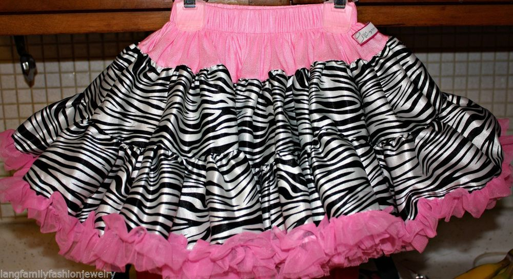 NWT Chic by Tutu Couture Zebra Print & Pink Petiskirt Size 1-3 YRS *Donation*