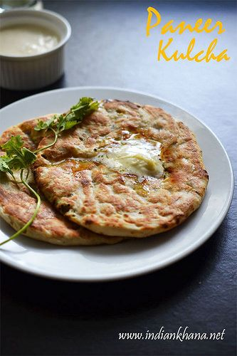 Paneer kulcha recipe4 by pritis via flickr food from india paneer kulcha restaurant style paneer kulcha on stove top paneer kulcha without yeast is classic indian flat bread stuffed with paneer or cottage cheese forumfinder Choice Image