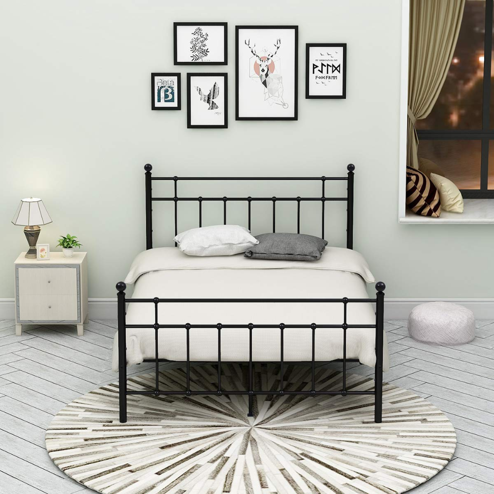 AmazonSmile Metal Bed Frame Platform Assemble Easily