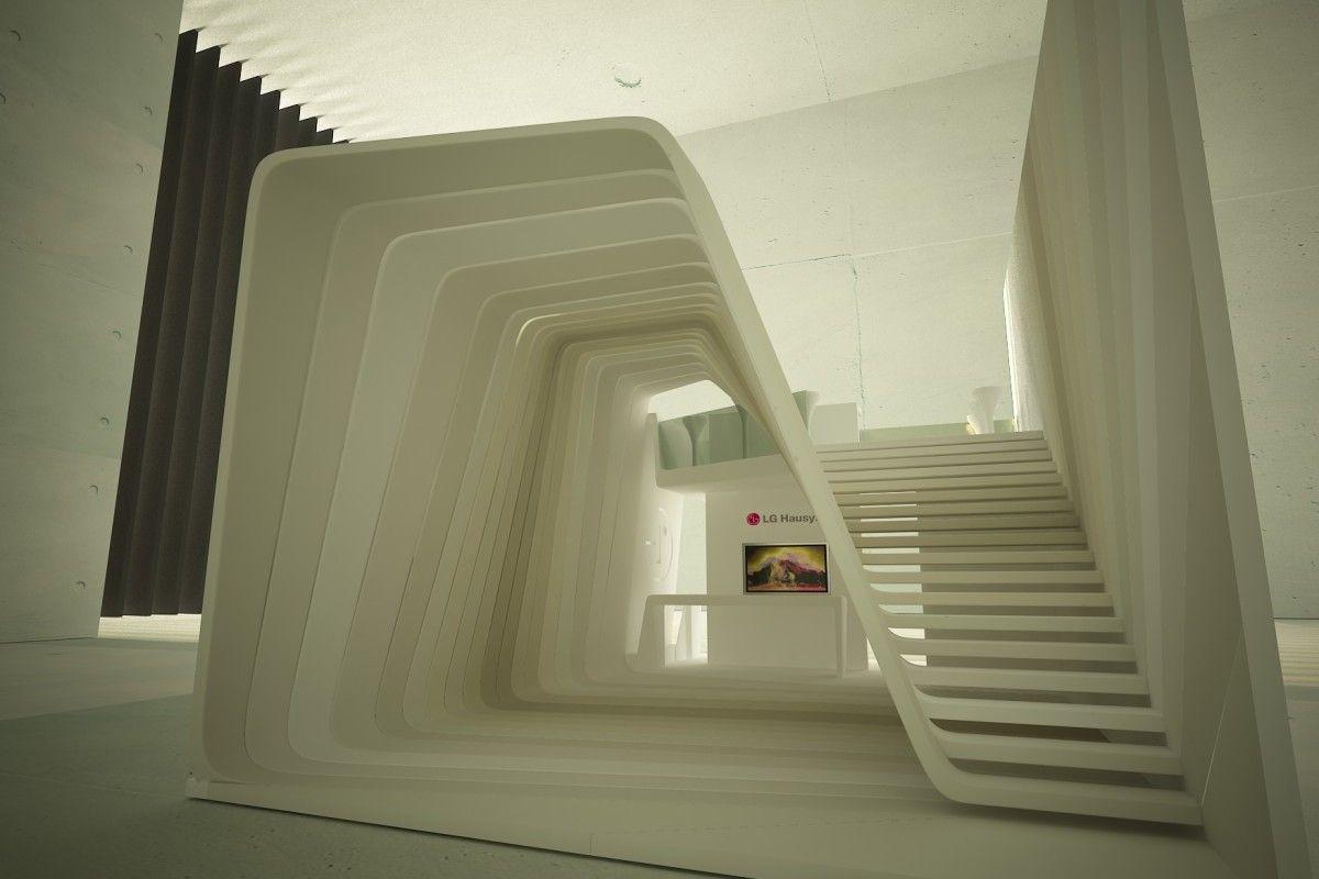 Exhibition Stand Display Ideas : Lg fair stand render stairs exhibition design