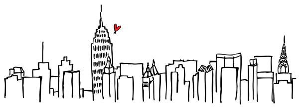 Drawing Of Nyc Skyline New York City Vector Drawing Sketch Stock ...