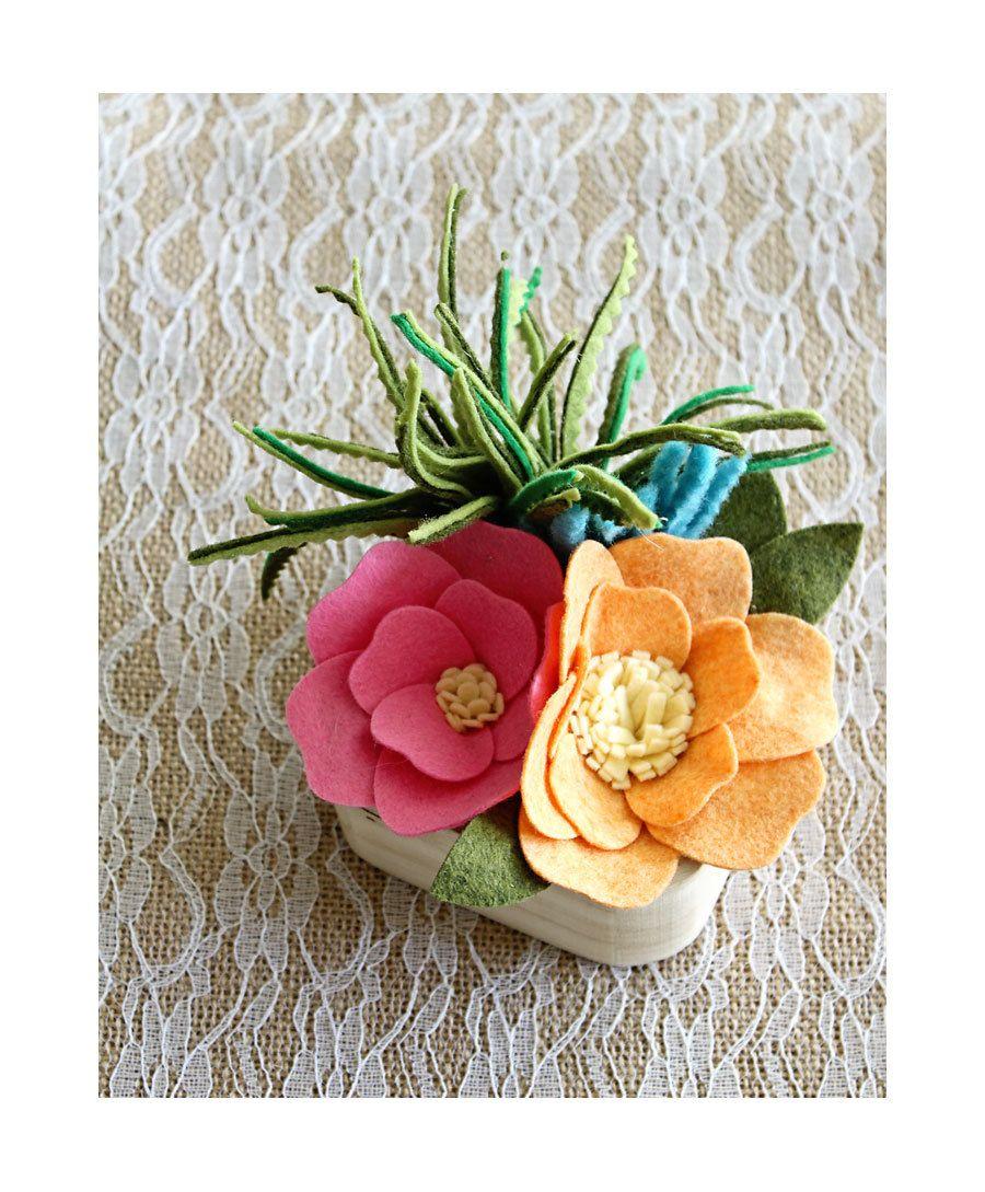 Felt hawaiian garden faux garden hawaiian bouquet felt flower felt hawaiian garden faux garden hawaiian bouquet felt flower wedding favor izmirmasajfo Gallery