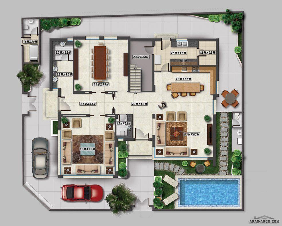 اضغط هنا لغلق أواضغط وحمل للصورة المؤث رة Beautiful House Plans Architectural House Plans New House Plans