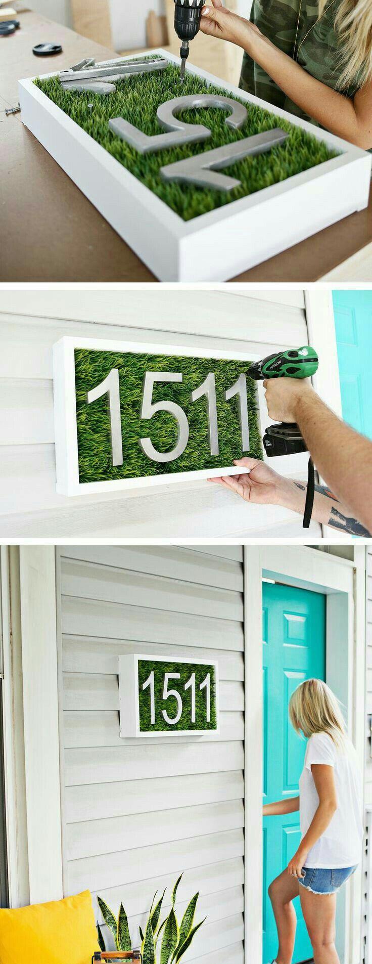 Pin by Tarien de Villiers on DIY | Pinterest | Diy house numbers ...