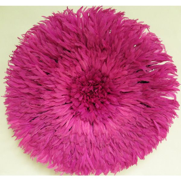 Authentic Juju Hat Wall Decor Feather Headdress ($235) ❤ liked on Polyvore featuring home, home decor, wall art, pink, home & living, home décor, wall décor, wall hangings, woven wall hanging and pink flamingo wall art