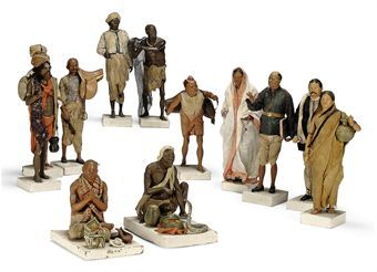 A GROUP OF TWELVE INDIAN BENGALI TERRACOTTA FIGURES | FIRST HALF 19TH  CENTURY | Interiors Auction | Sculptures, Statues… | Statue, Bengali,  Sculptures & statues