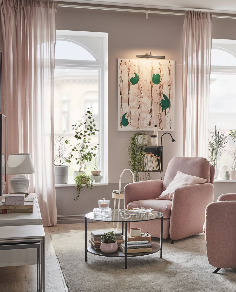 23 Small Living Room Ideas To Make The Most Of Your Space Pink Living Room Decor Small Living Rooms Small Room Colour Schemes Mink living room decor