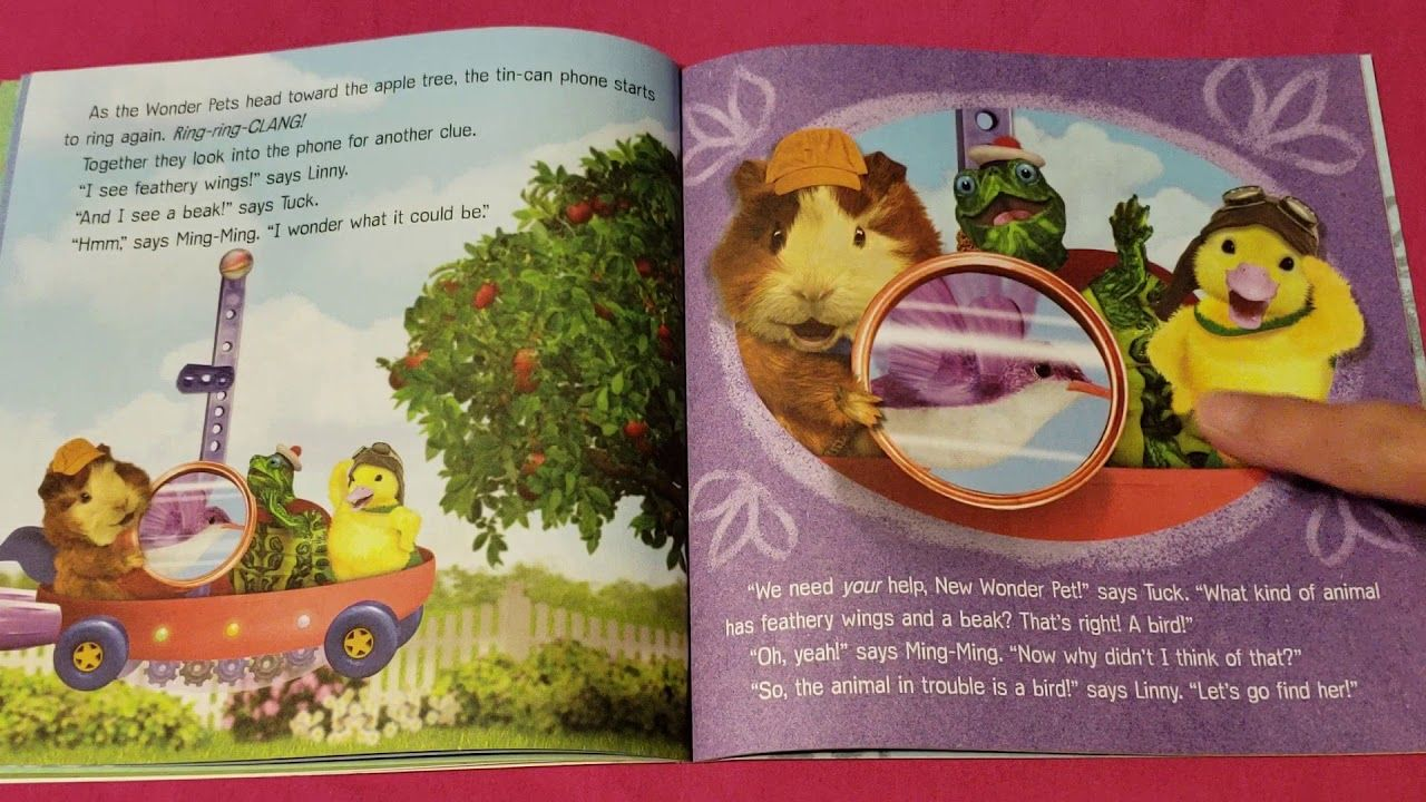 Read Along With Aunt Neny Nickelodeon Wonder Pets Baby Bird Rescue Wonder Pets Pets Tin Can Phone