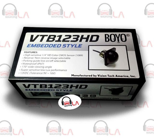 Sourcing-LA: BOYO VTB123HD Side View and Rear View Dual Use Cam...