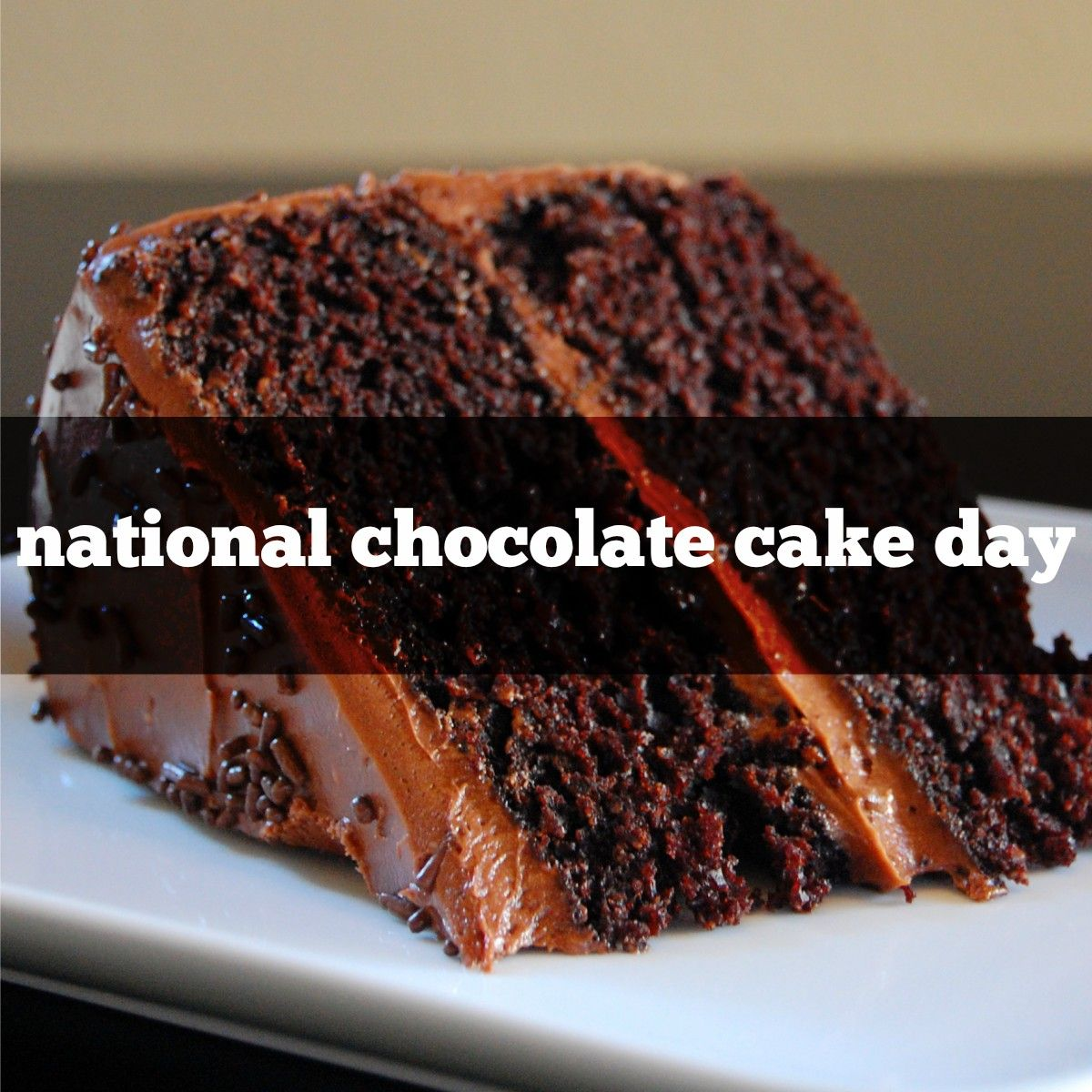 January 27th Is National Chocolate Cake Day National Chocolate Cake Day Cake Day Chocolate Cake