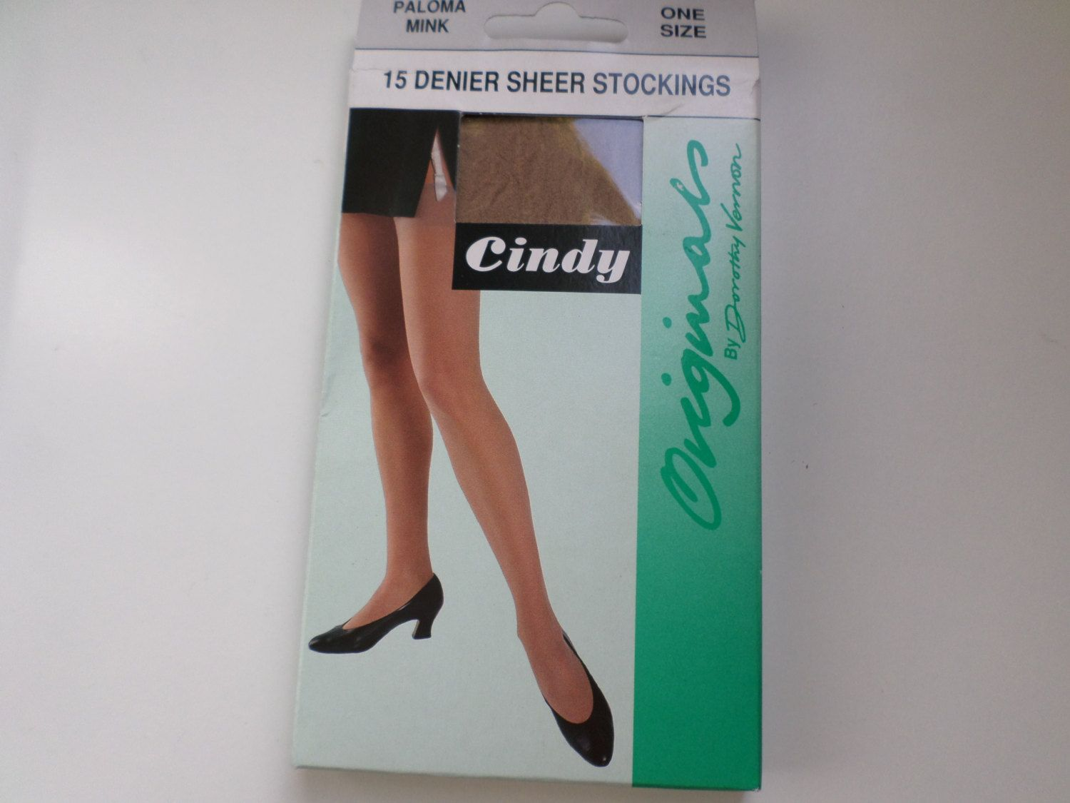 Vintage 15 Denier sheer stockings Paloma Mink by RetroWARDROBE on Etsy