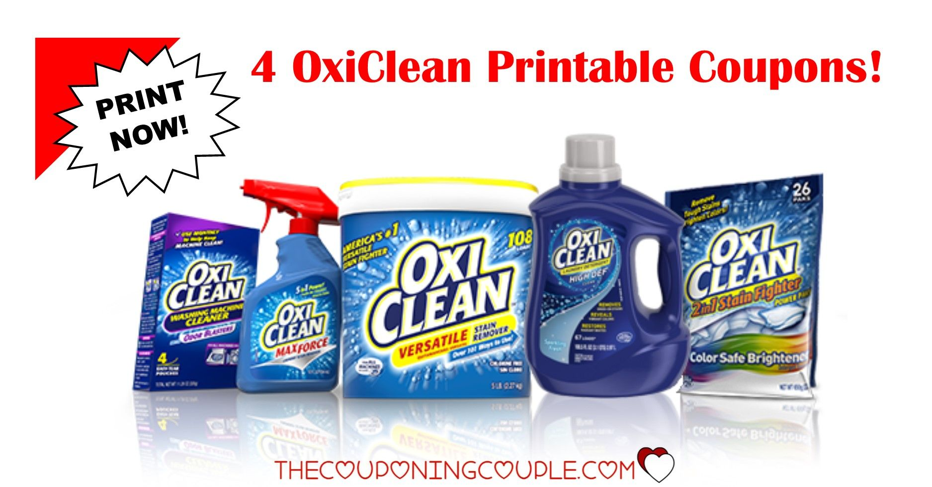 picture relating to Oxiclean Printable Coupon known as 3 Contemporary OxiClean Printable Discount coupons ~ $3.50 in just Cost savings! PRINT