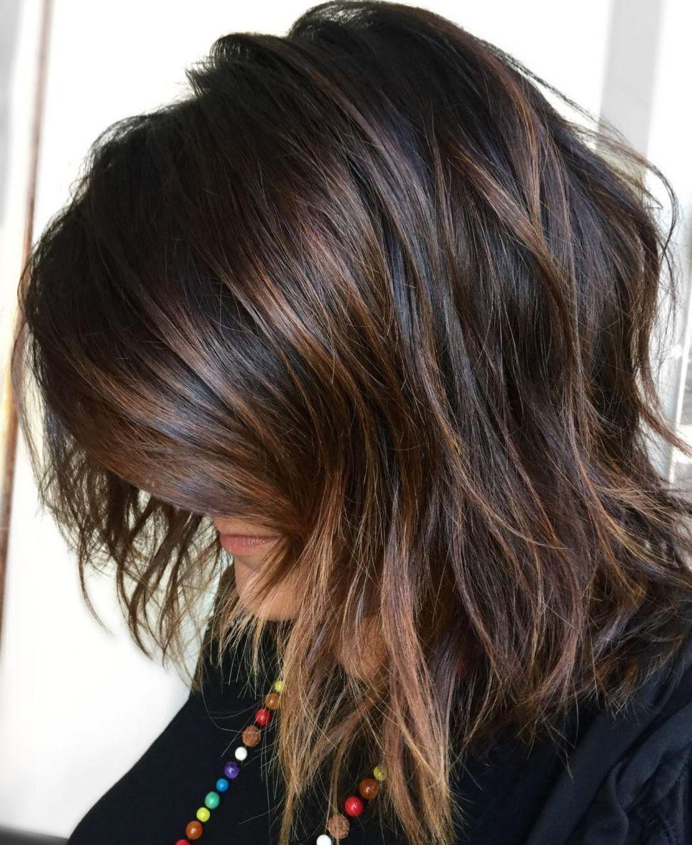 Halblange Haare Braun