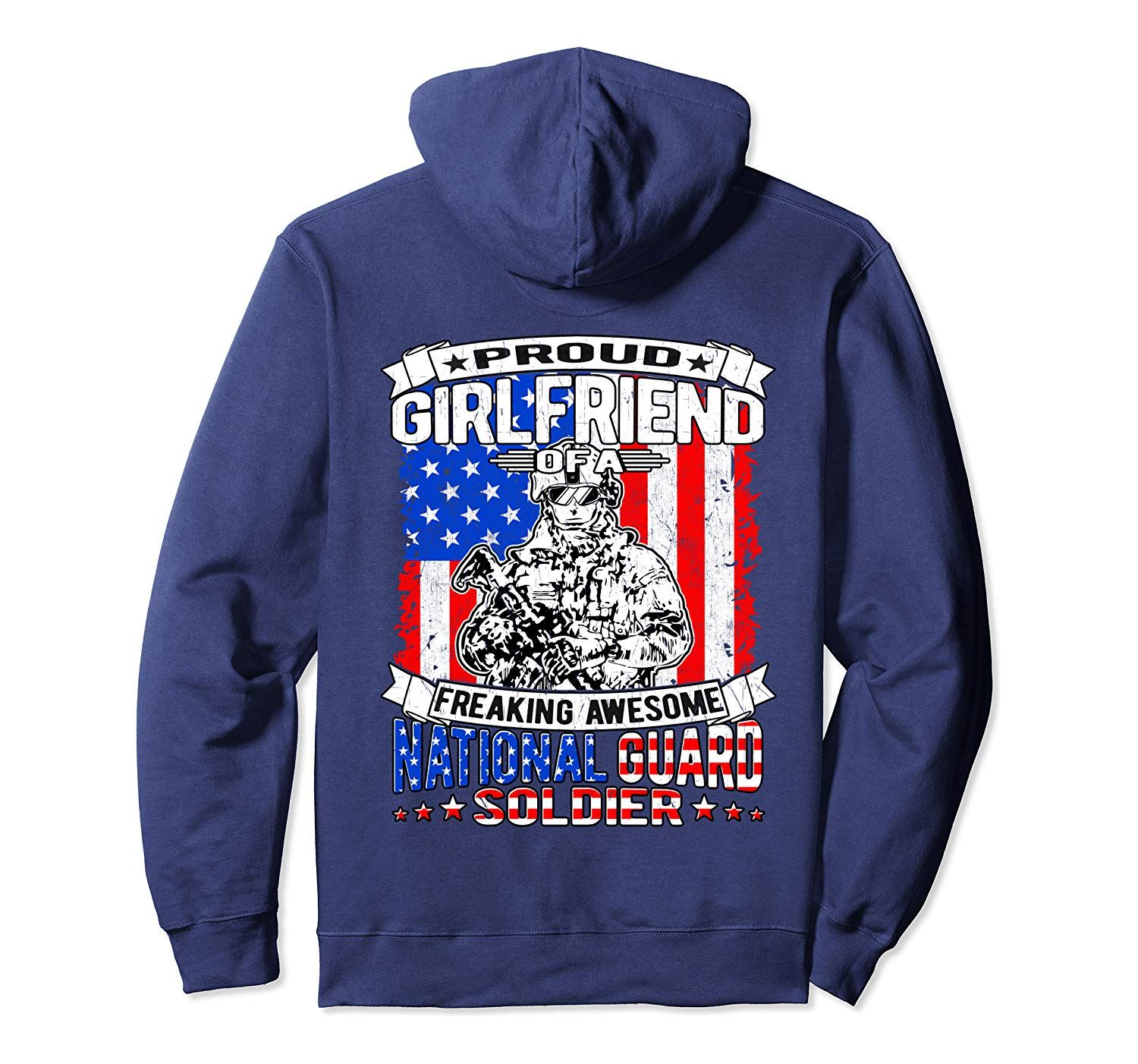Proud Girlfriend of a National Guard Soldier Military Gift Pullover Hoodie #grandpagifts