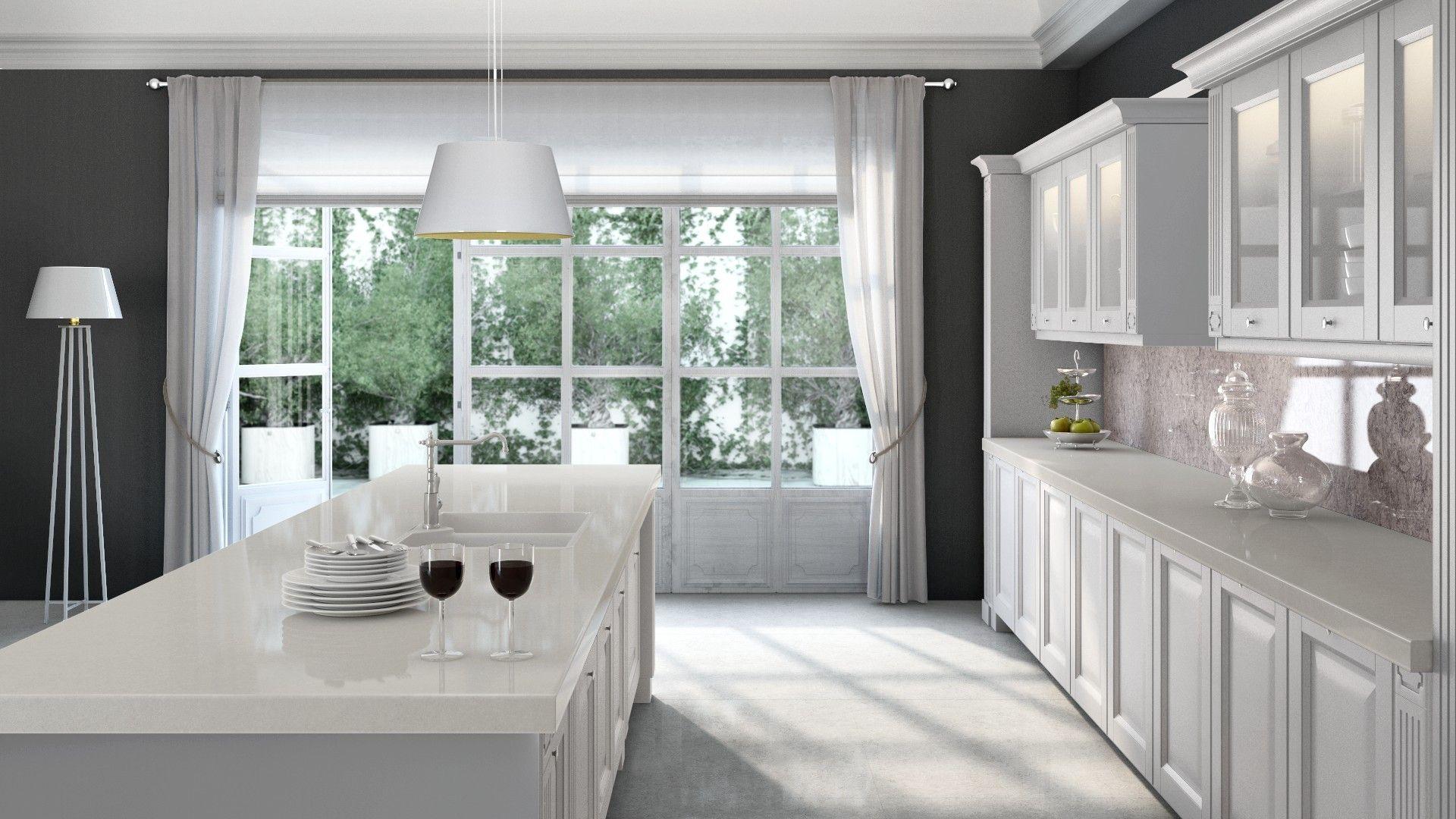 CaesarStone Misty Carrara Virtual kitchen designer