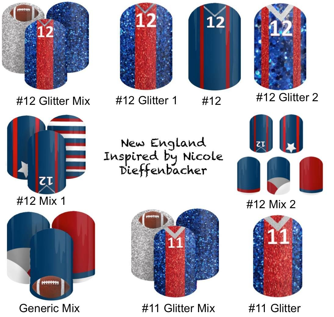 Patriots Inspired Jamberry Nail Wraps Many Designs In Patriots Colors And Designs For Tom Brady An Patriotic Nails Patriots Nails Football Jamberry Nail Wraps