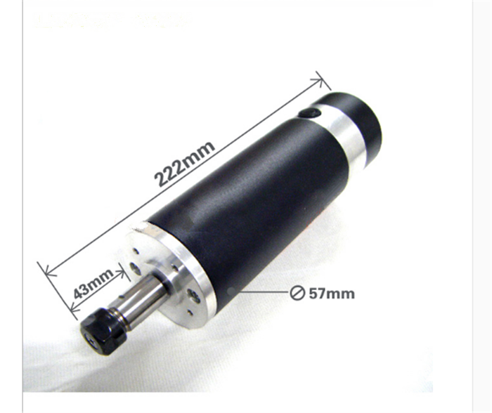 600w 0.6kw ER11 DC Brushed Spindle Motor Air cooling 2000-13000rpm DC24-110V DIY CNC Engraving Drilling milling