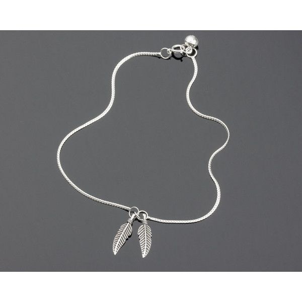 feather silver p anklet sterling asp