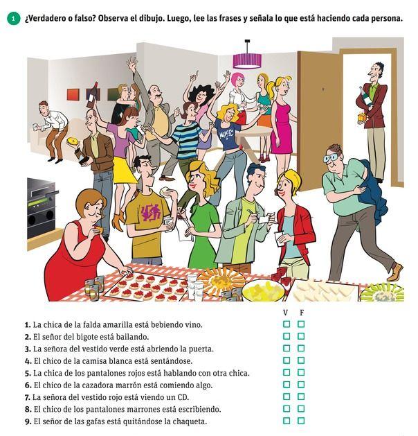 Top Actividad de present progressive | La clase de espanol | Pinterest  BF53