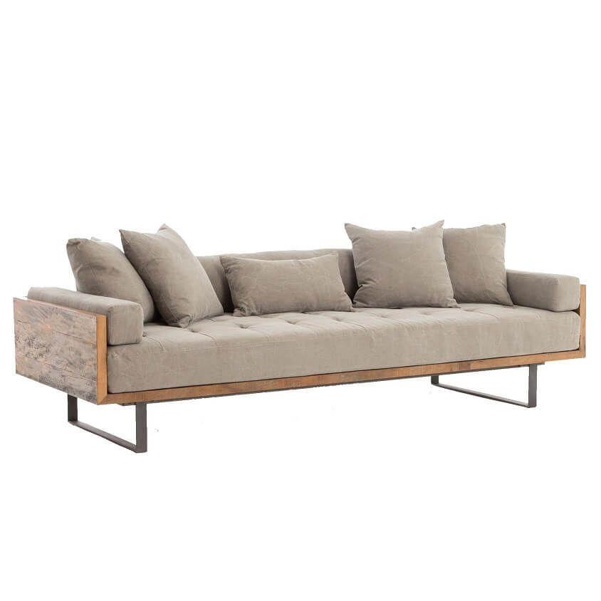 Ranger Industrial Loft Reclaimed Wood Sofa #vintageindustrialfurniture