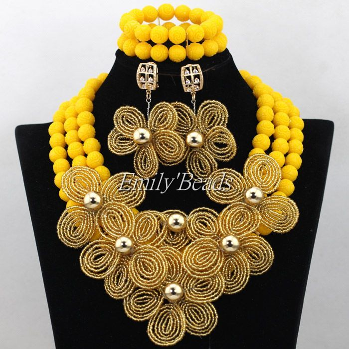 Find More Jewelry Sets Information about Yellow Nigerian Wedding