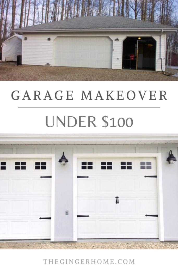 Garage Door Makeover For Less Than 100 In 2020 Garage Doors Garage Door Makeover Door Makeover