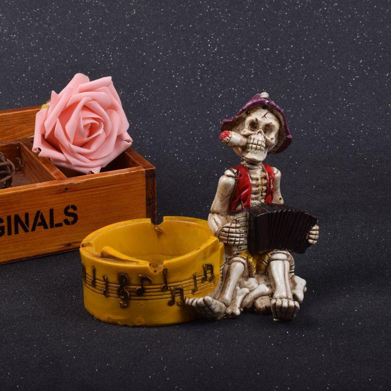 Personalized Skull Series Organist Skull Decorative Ashtray Creative