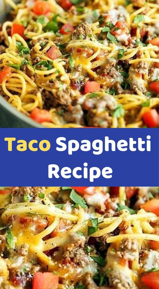 Taco Spaghetti Recipe    To Make this Recipe You'Il Need the following ingredients:  Ingredients:  8 ounces spaghetti    1-1/4 pounds lean ground beef or ground turkey    1 (1-oz) package taco seasoning    2/3 cup water    1 can (10.75-oz) cream of chicken soup    1 can (10-oz) can #groundturkeytacos