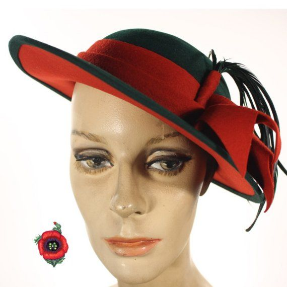 Image detail for -vintage hat 1940 s rakish feather from heyviv