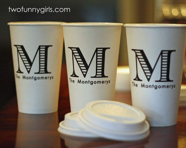 Personalized Paper Coffee Cups With