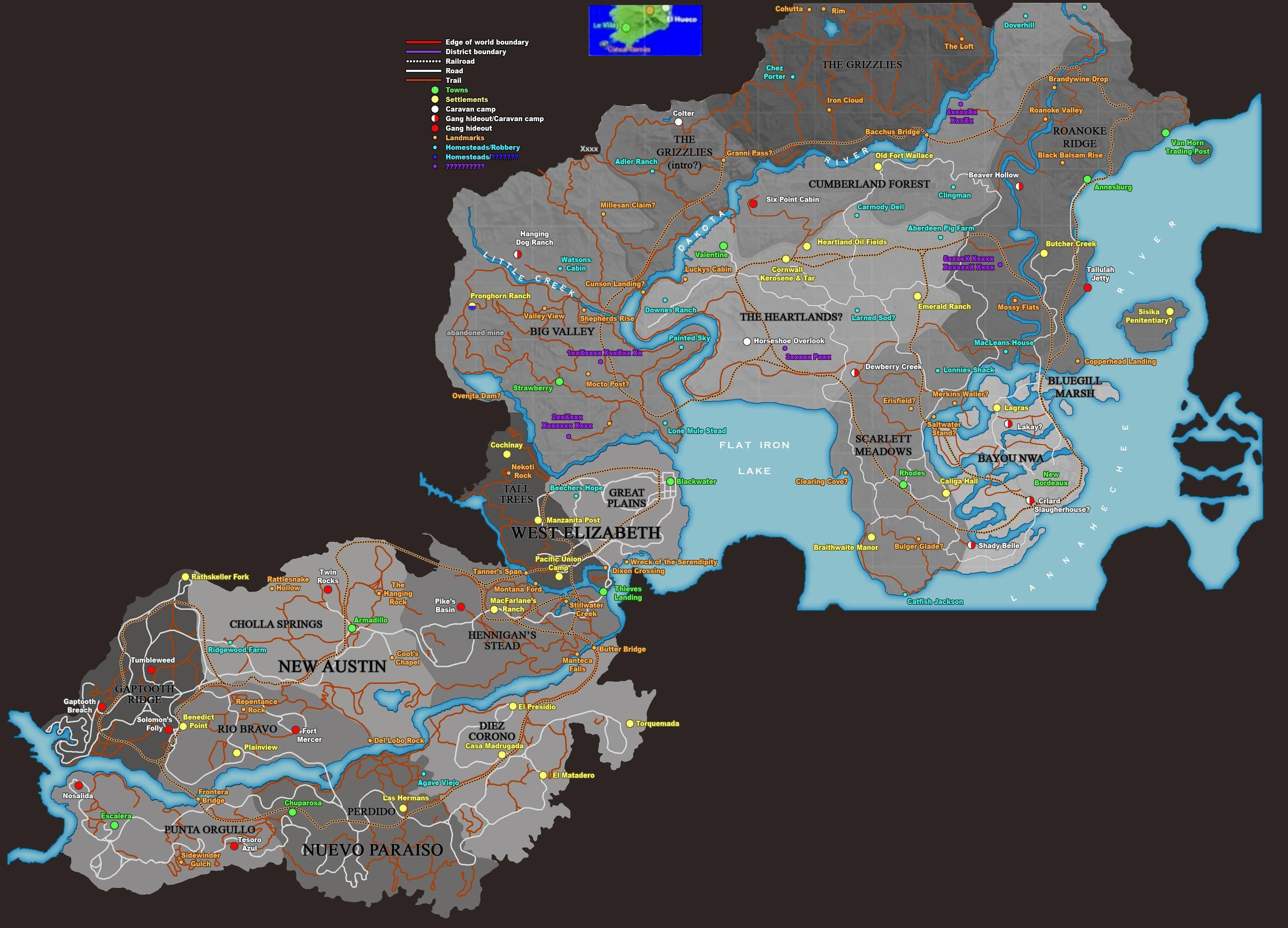 Red Dead Redemption 2 Icin Detayli Harita Yayinlandi Red Dead Redemption Western Games Map