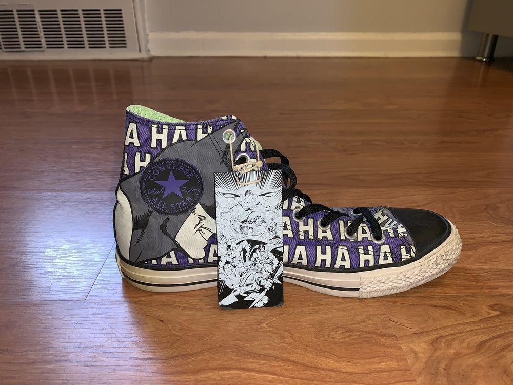 21ccfd5b0db6 Converse X DC Comics Batman Vs Joker Haha  fashion  clothing  shoes   accessories
