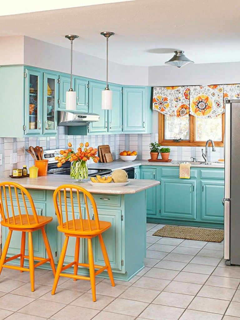 35 stunning bright colorful kitchen design ideas kitchen colour schemes kitchen flooring on kitchen ideas colorful id=58837