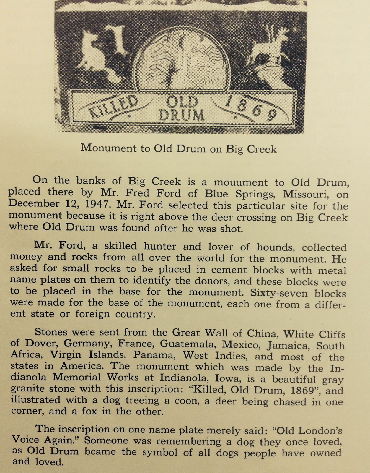 Johnson County And Western Missouri History Old Drum