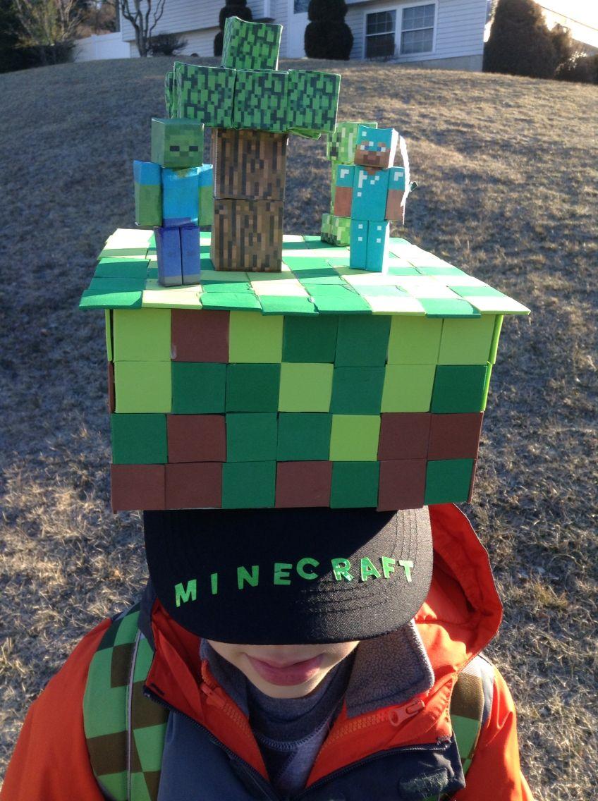 Minecraft crazy hat day Sombrero Loco Para Niña 7f6dea712be