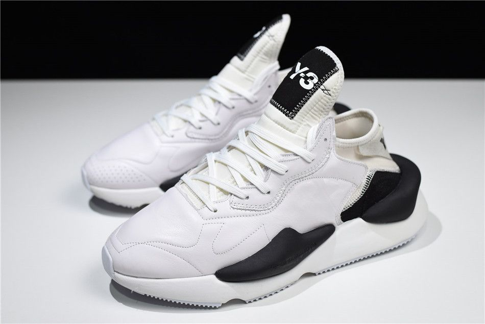 New adidas   Y3 Introducing Kaiwa Y3 Fall 2018 Paris White Black Shoes 9a3584625c41