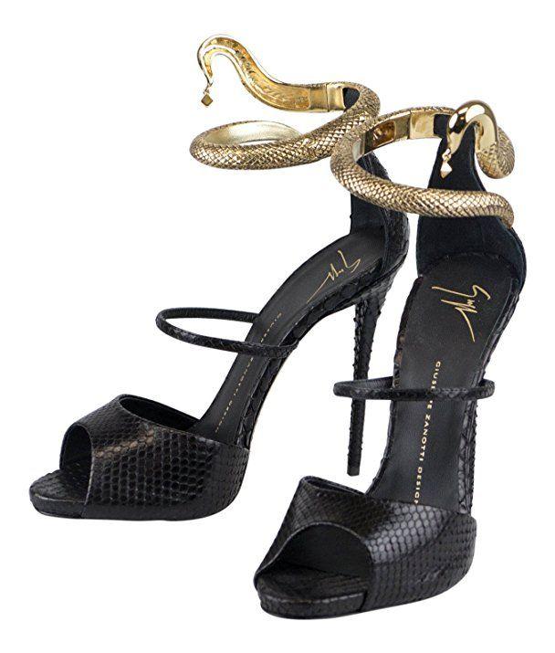 42729eaaf953 GIUSEPPE ZANOTTI Coline Matisse Python Heels Shoes Size 11 US 41 EU ...