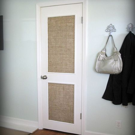 Here\u0027s a quick and easy DIY option to dress up a plain interior door. Use pine moulding or trim to add a framed fabric panel to doors. Y.. & Here\u0027s a quick and easy DIY option to dress up a plain interior door ...